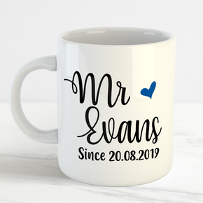 The New Mr Wedding Surname Mug