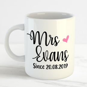 The New Mrs Wedding Surname Mug