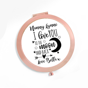 Personalised Compact Mirror Nanny Moon & Back