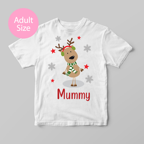 Family Matching Christmas Mummy Rudolph Adult T-Shirt