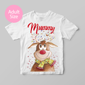 Family Matching Christmas Rudolph Adult T-Shirt
