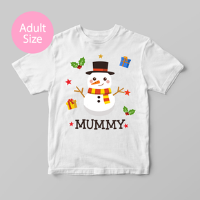Family Matching Christmas Mummy Snowman Adult T-Shirt