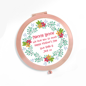 Personalised Compact Mirror Nanny
