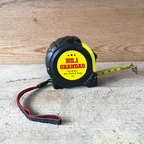 Personalised Tape Measure No.1 Grandad