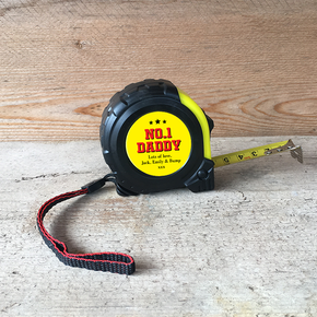 Personalised Tape Measure No.1 Daddy