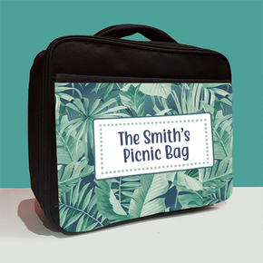 Personalised Palm Leaves Family Picnic Lunch Bag