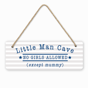 Little Man Cave Door Room Sign