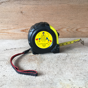 Personalised Tape Measure Super Daddy Bear