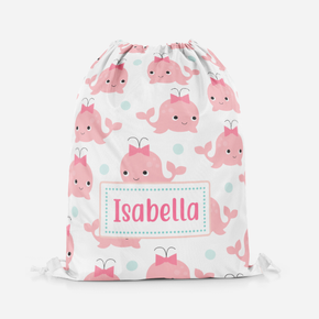 Baby pink Whale Girls Pe Bag