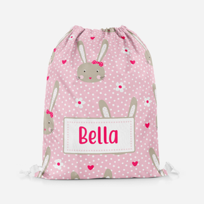 Bunny Rabbit Polka Dot Girls Pe Bag