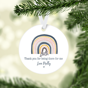 Personalised Rainbow Thank You Decoration