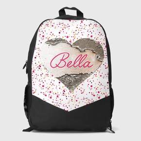 Sequin Heart Large Backpack Limited Edition Polka Dots