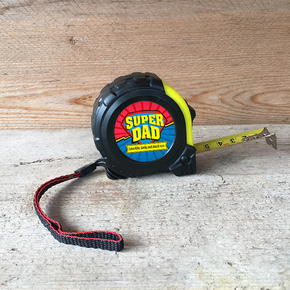 Personalised Tape Measure Superhero Super Dad