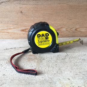 Personalised Tape Measure Dad You Are Our Superhero