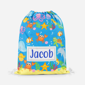 Personalised Under The Sea Swimming Pe Bag