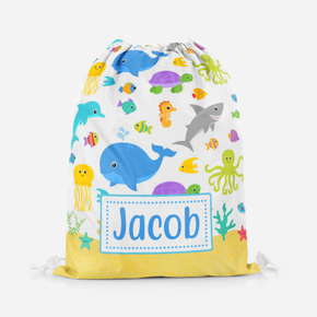 Personalised Under The Sea, Sea Life Swimming Pe Bag