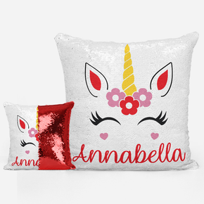 Unicorn Sequin Mermaid Cushion