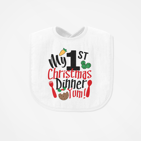 My First Christmas Dinner Bib