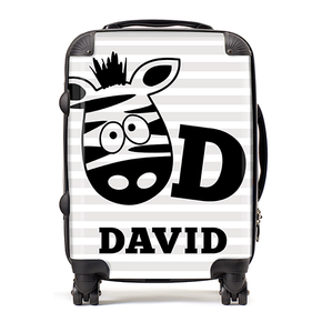 Personalised Zebra Kids Children's Luggage Cabin Suitcase