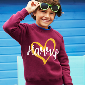 Gold Heart Kids Jumper