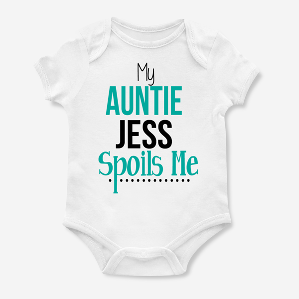 Personalised My Nanny Spoils Me Unisex Baby Grow Bodysuit
