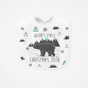 My First Christmas Bear Bib