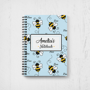 Personalised Teacher Notebook Bumble Bee