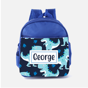 Blue Dinosaurs Backpack