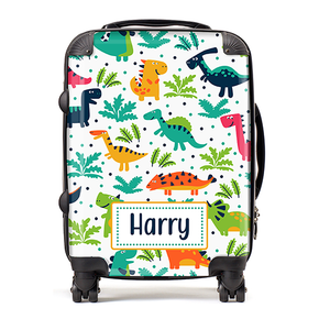 Personalised Dinosaur Kids Childrens Luggage Cabin Suitcase
