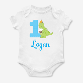 Dinosaur My First Birthday Bodysuit