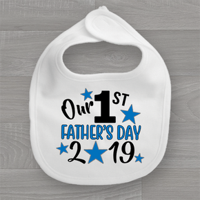 Our First Father's Day 2019 Baby Bib