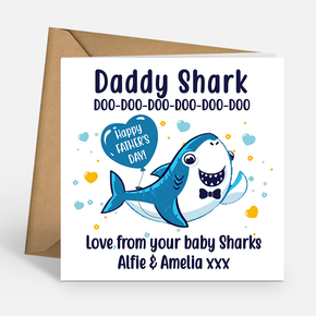 Daddy Shark Father's Day Card