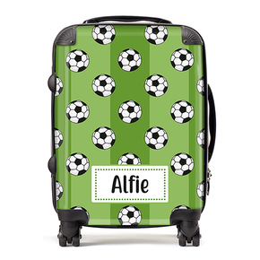 Personalised Football Kids Children's Luggage Cabin Suitcase