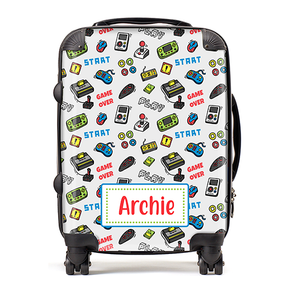 Personalised Gamer Kids Children's Luggage Cabin Suitcase