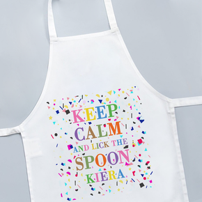 Keep Calm And Lick The Spoon Apron