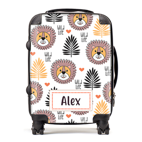Personalised Lion Kids Children's Luggage Cabin Suitcase