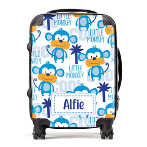 Personalised Cheeky Monkey Kids Children's Luggage Cabin Suitcase