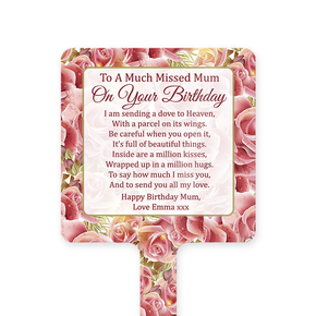 Happy Birthday Mum Memorial Ground Stake Roses