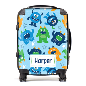 Personalised Monster Kids Children's Luggage Cabin Suitcase