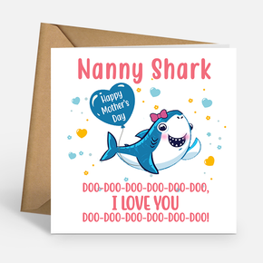 Mother's Day Nanny Shark Card