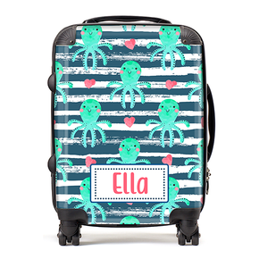 Personalised Octopus Kids Children's Luggage Cabin Suitcase