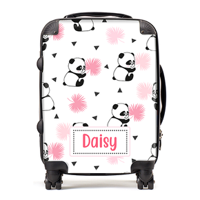 Personalised Panda Kids Children's Luggage Cabin Suitcase