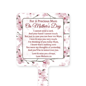 Mother's Day Memorial Ground Stake Ditsy Pink
