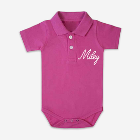 Pink Polo Bodysuit