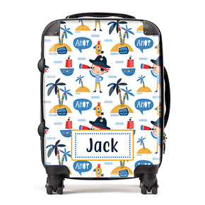 Personalised Pirate Ahoy Kids Children's Luggage Cabin Suitcase