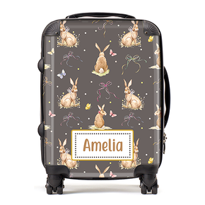 Personalised Bunny Rabbit Kids Children's Luggage Cabin Suitcase
