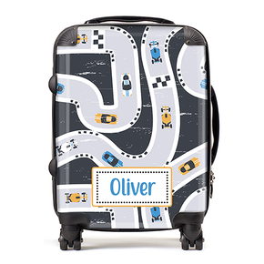 Personalised Racing Car Kids Children's Luggage Cabin Suitcase