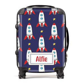 Personalised Rocket Ships Kids Children's Luggage Cabin Suitcase