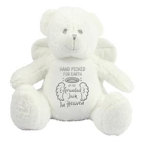 Personalised Angel Memorial Bear Grandad