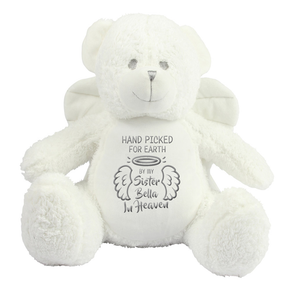 Personalised Angel Memorial Bear Sister
